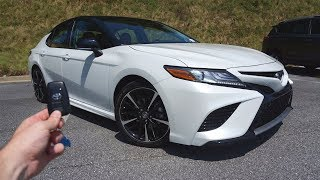 2018 Toyota Camry XSE: Start Up, Test Drive, Walkaround and Review