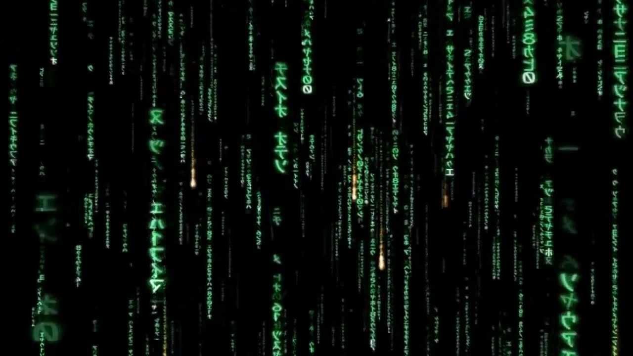 Matrix Code Rain Falling Program YouTube