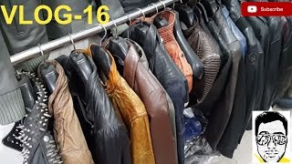 LEATHER JACKET MARKET/LIVE-FACTORY(exploring-bikers,coats,boots,purses)DELHI | gaurav sharma\vlog16 thumbnail