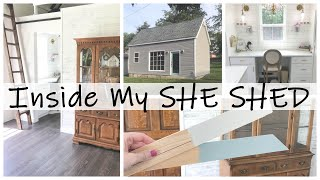 INSIDE MY SHE SHED!  Finishing Touches! TINY HOUSE