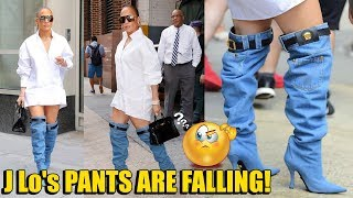OMG! Jennifer Lopez GIVES UP Her PANTS For VERSACE BOOTS