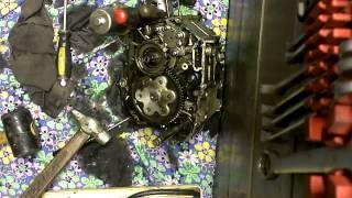 замена коленвала в двигателе(139FMB) мопеда (Разбор) Часть#1
