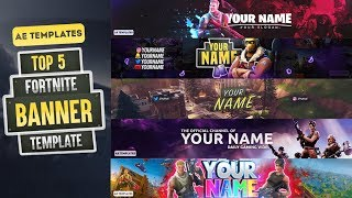 TOP 5 Fortnite Banner Template | AE Templates