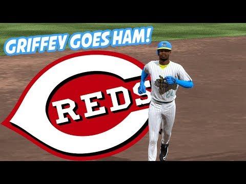 All-Time Cincinnati Reds Team! 99 Ken Griffey Jr the MVP! - MLB The Show 17 Diamond Dynasty Gameplay