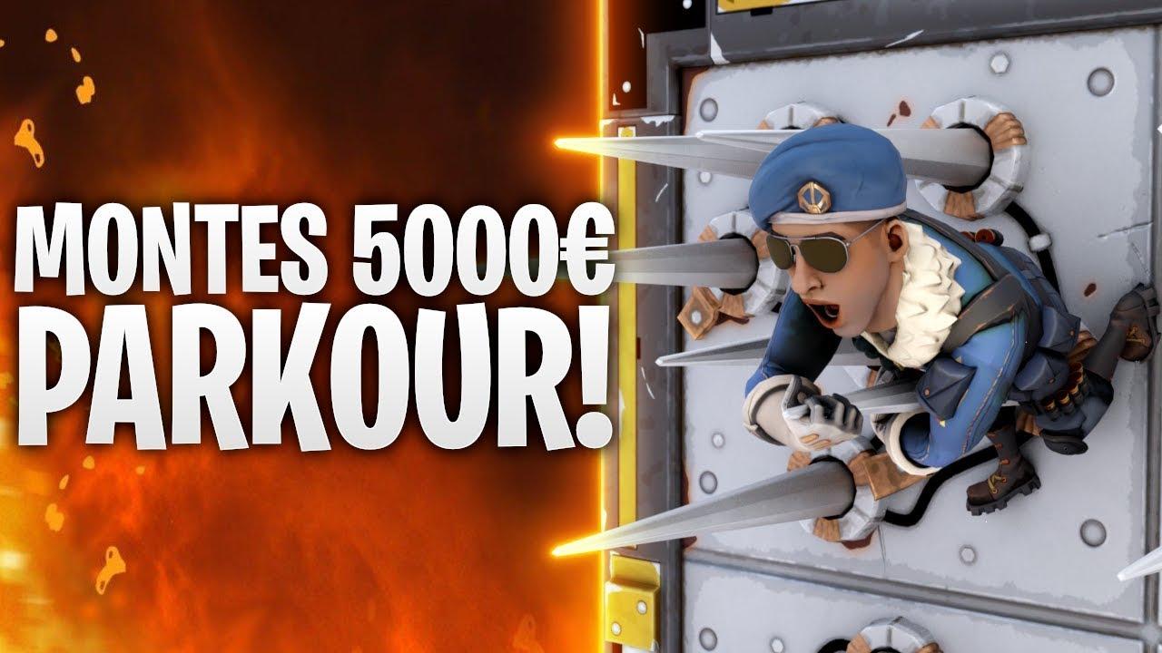montes 5000 parkour map fortnite battle royale - monte parkour fortnite code