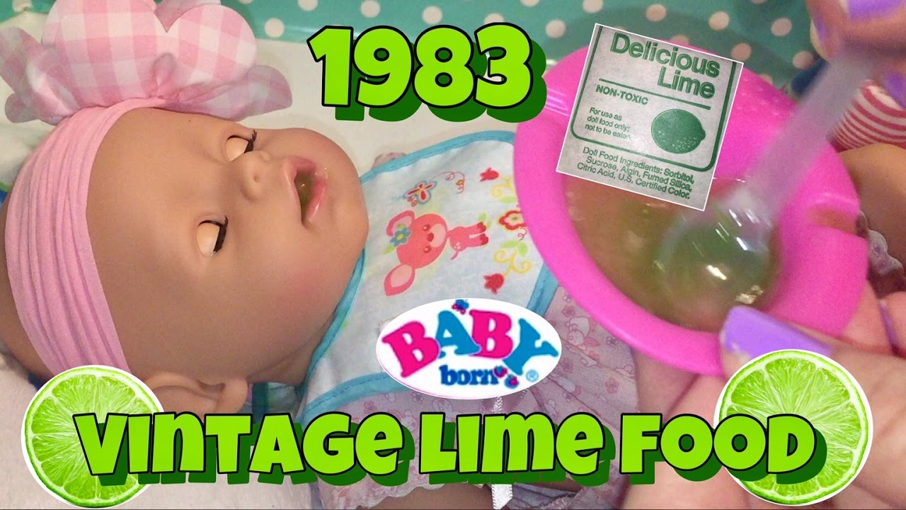 Baby Born Feeding Vintage 1983 Lime Doll Food Zapf