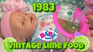 Baby Born feeding VINTAGE 1983 LIME DOLL FOOD Zapf Creations