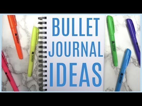 5 Ways to Fill Your Bullet Journal! Easy Planner ideas