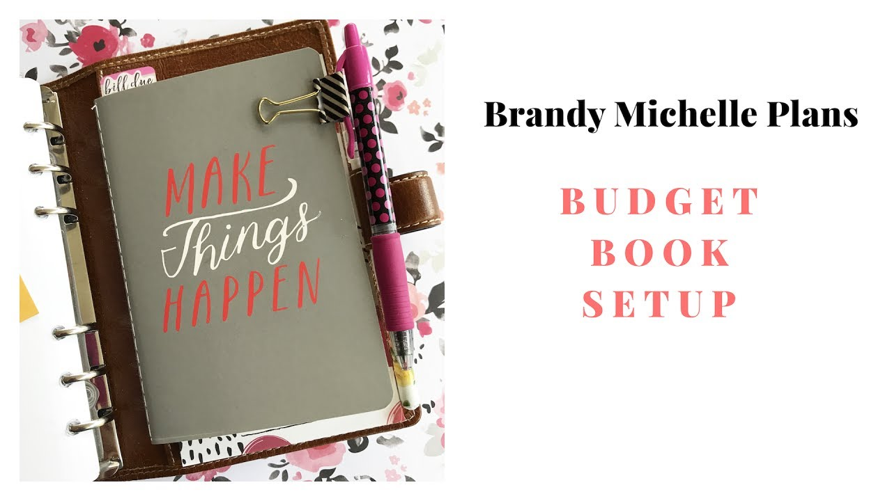 my simple budget book setup youtube