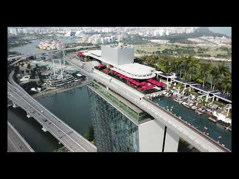 Singapore Marina Bay Sands, Singapore, Drone, March 2019