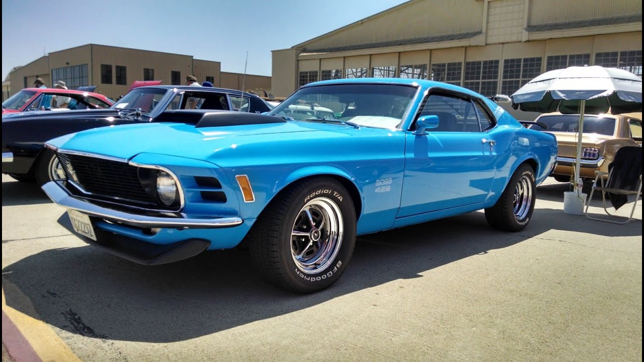 1970 boss 429 mustang start up and owner interview wings over camarillo 2014 youtube