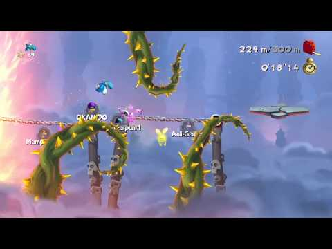 """Rayman Legends PS4 Daily Extreme Challenge Land of the Living Dead 300 Metres ( Time 24""""91! )"""