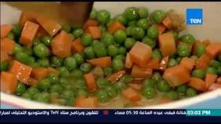 مطبخ 10/10 - الشيف أيمن عفيفي - الشيف جمال الشربينى - طريقة عمل أرز أصفر بالخضار