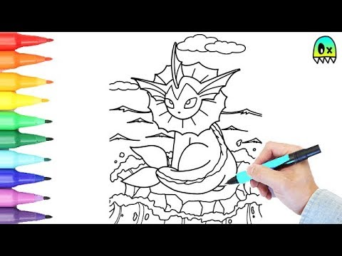 pokemon coloring pages vaporeon colouring book fun