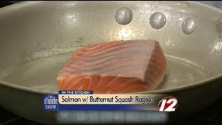 Seared Salmon With Squash Ragout & Apple