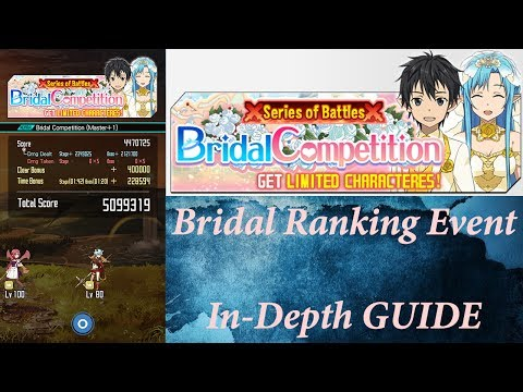 Sword Art Online (Memory Defrag) - Bridal Ranking Event In-Depth GUIDE - How to get over 5mil points