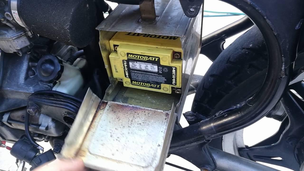 Cafe Racer Battery : Cafe racer battery box youtube