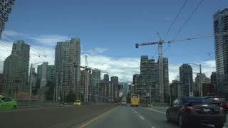 Vancouver CAR RIDE: CANADA DAY 2018 Pt. 2 Oak St to Downtown/Canada Place Via Granville St Bridge