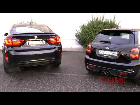 revbattle beast vs mini bmw x6m vs mini jcw youtube. Black Bedroom Furniture Sets. Home Design Ideas