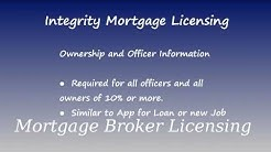 Mortgage Broker Licensing Requirements