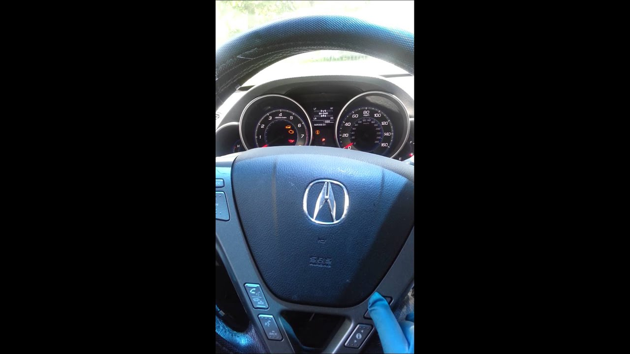 acura mdx oil change reset code b1 youtube