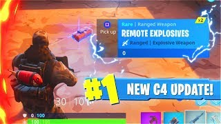 New C4 WEAPONS Update! New WEEK 4 Challenge Fortnite Battle Royale Update! (New Fortnite Update)