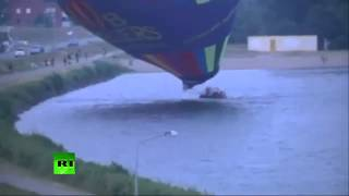 Raw video  Hot air balloon crashes in the Netherlands with 10 people on board