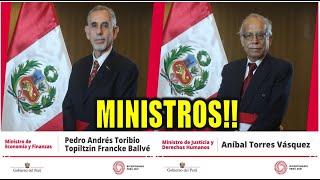 🔥ULTIMO!! ANIBAL TORRES Y PEDRO FRANCKE JURAMENTAN COMO MINISTROS DE JUSTICIA Y ECONOMIA. PERU