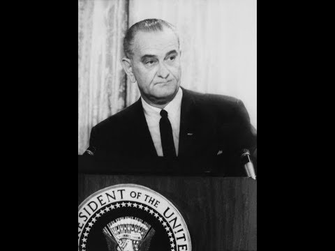 7452073f3a8c5 The Presidency  1967 President Johnson Vietnam War press conference ...