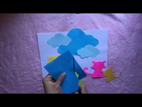 How to cut a paper cloud shape (diy, handmade)