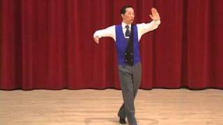 Gold Slow Foxtrot - Bounce Fallaway and Weave Ending Ballroom Dance Lesson