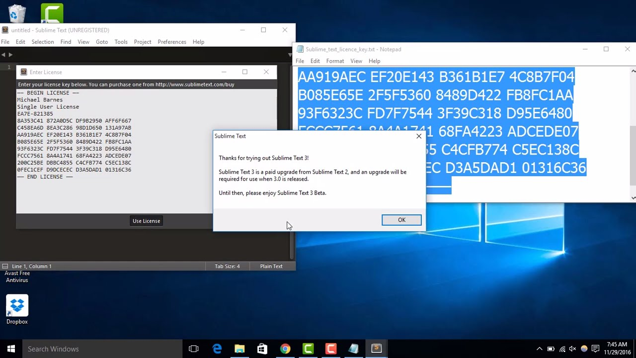 Sublime text 3 build 3200 license key free | Sublime Text