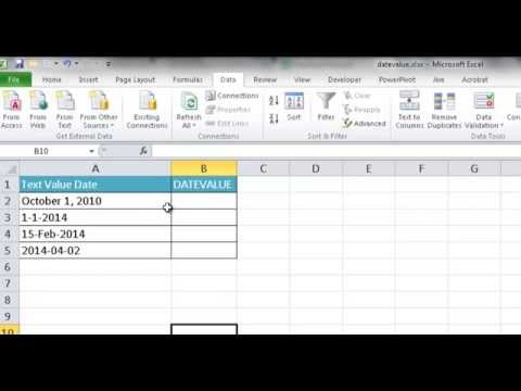 Make Excel Recognize Dates with the DATEVALUE Function