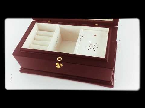 Exquisite Wooden Musical Jewelry Box - Install Custom Song / Engraved Logo
