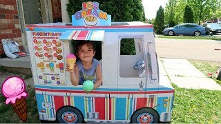 Kids Pretend Play with Ice Cream Truck Food Toys Playhouse