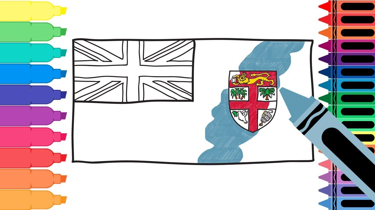 fiji flag coloring pages - photo#26