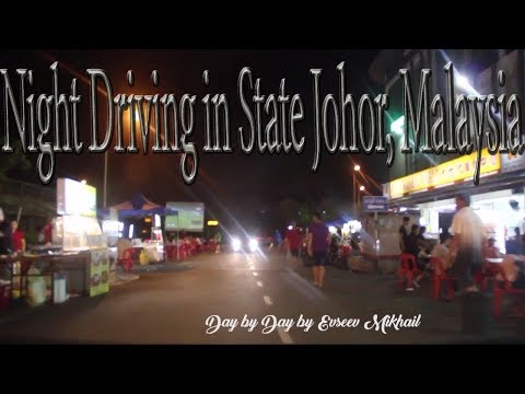 Night Driving in State Johor, Malaysia | 夜间驾驶在新山路上