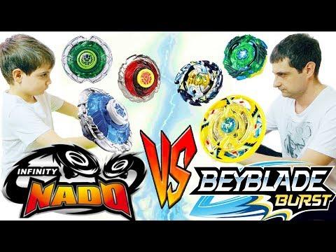 КТО СИЛЬНЕЕ BeyBlade Burst VS Infinity Nado Командные Сражения БейБлэйд Берст против Инфинити надо