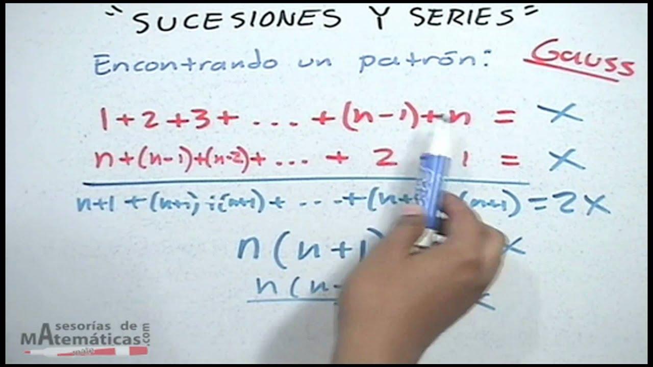 Fórmula para suma de sucesiones aritméticas - YouTube