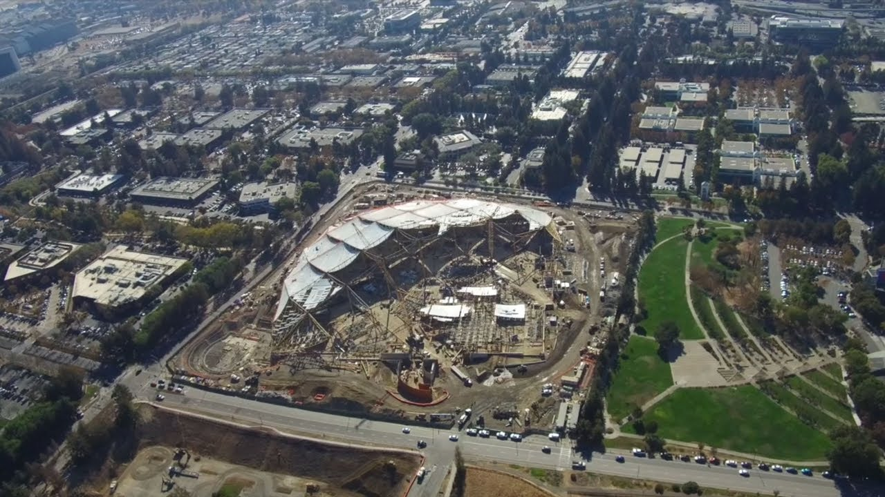 Google's new headquarters under construction in Mountain