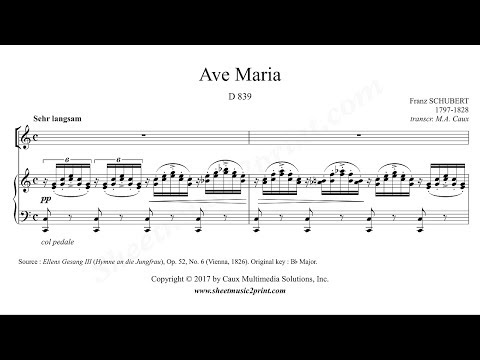 Schubert : Ave Maria - C Major