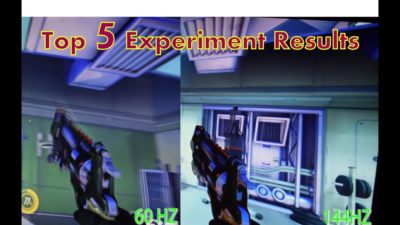 Top 5: 60Hz vs 144Hz Refresh Rate Experiment Results