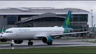 Aer Lingus Airbus A321NEOs in Action at Dublin Airport