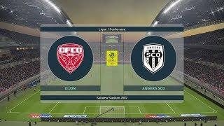 PES 2019 | Dijon vs Angers - France | Ligue 1 Conforama 2018/19 | Full Gameplay (PS4/Xbox One)