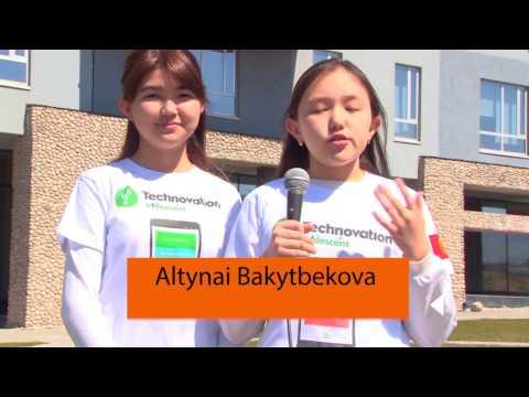 "Eco-city team  Technovation _2017. Mobile app. ""Eco city"", Kyrgyzstan"