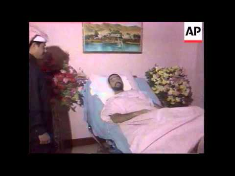 IRAQ: PRESIDENT SADDAM HUSSEIN'S SON UDAY APPEARS ON STATE TV