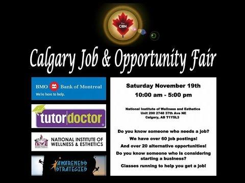 Calgary Job and Opportunity Fair CIBN BMO NIWE Tutor Doctor