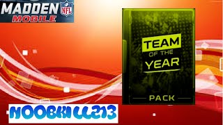 Madden Mobile Team Of The Year Pack Opening