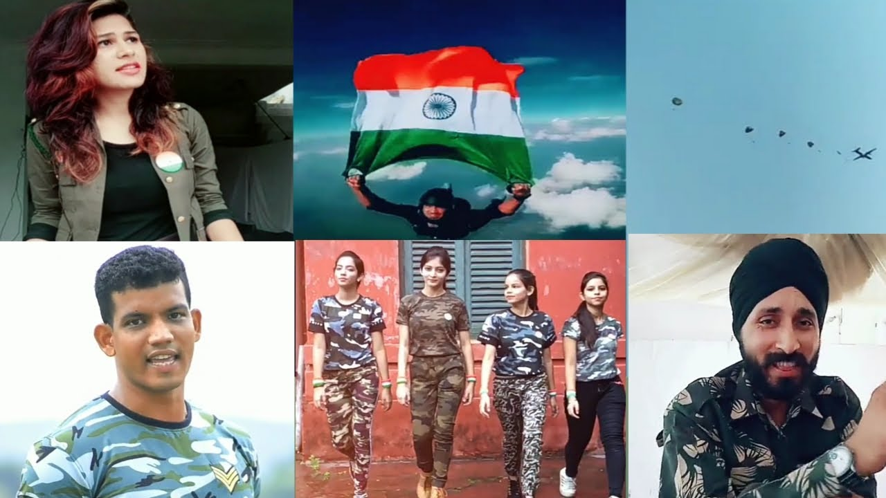 indian army tik tok video