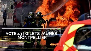[ACTE 43 GILETS JAUNES]  | MONTPELLIER BLACKS BLOCKS VS CRS | GUERILLA URBAINE